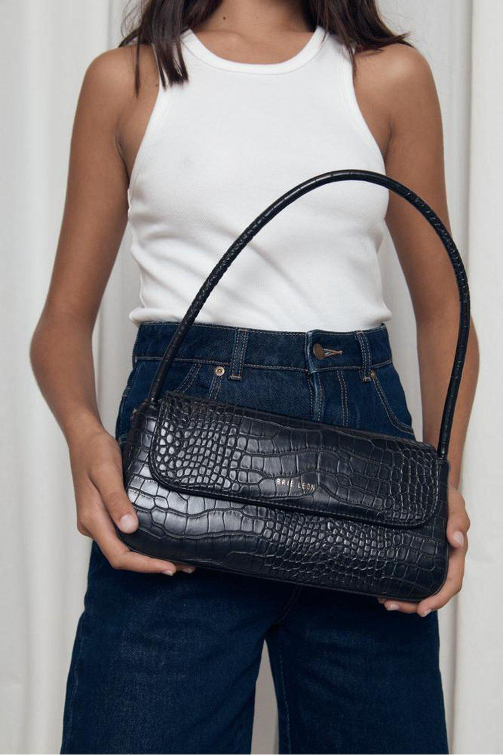 The Camille Bag / Black Matte Croc | Brie Leon | Mad About The Boy
