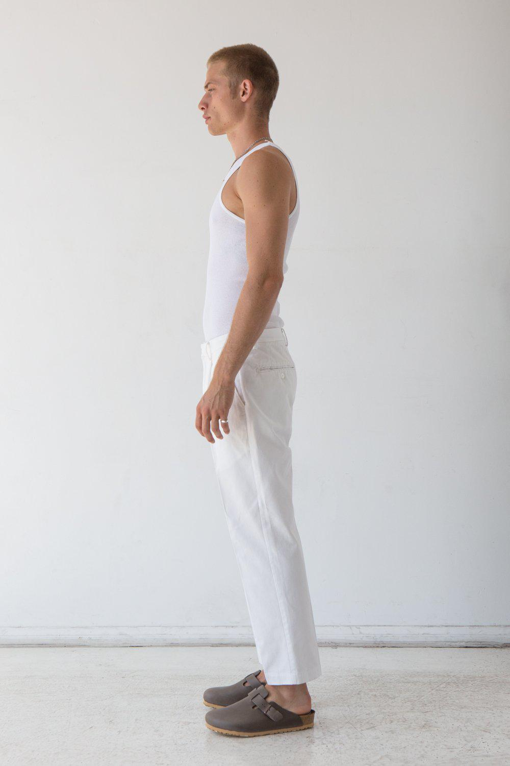 Rosewood Pleated Pant / White | Flores | Mad About The Boy