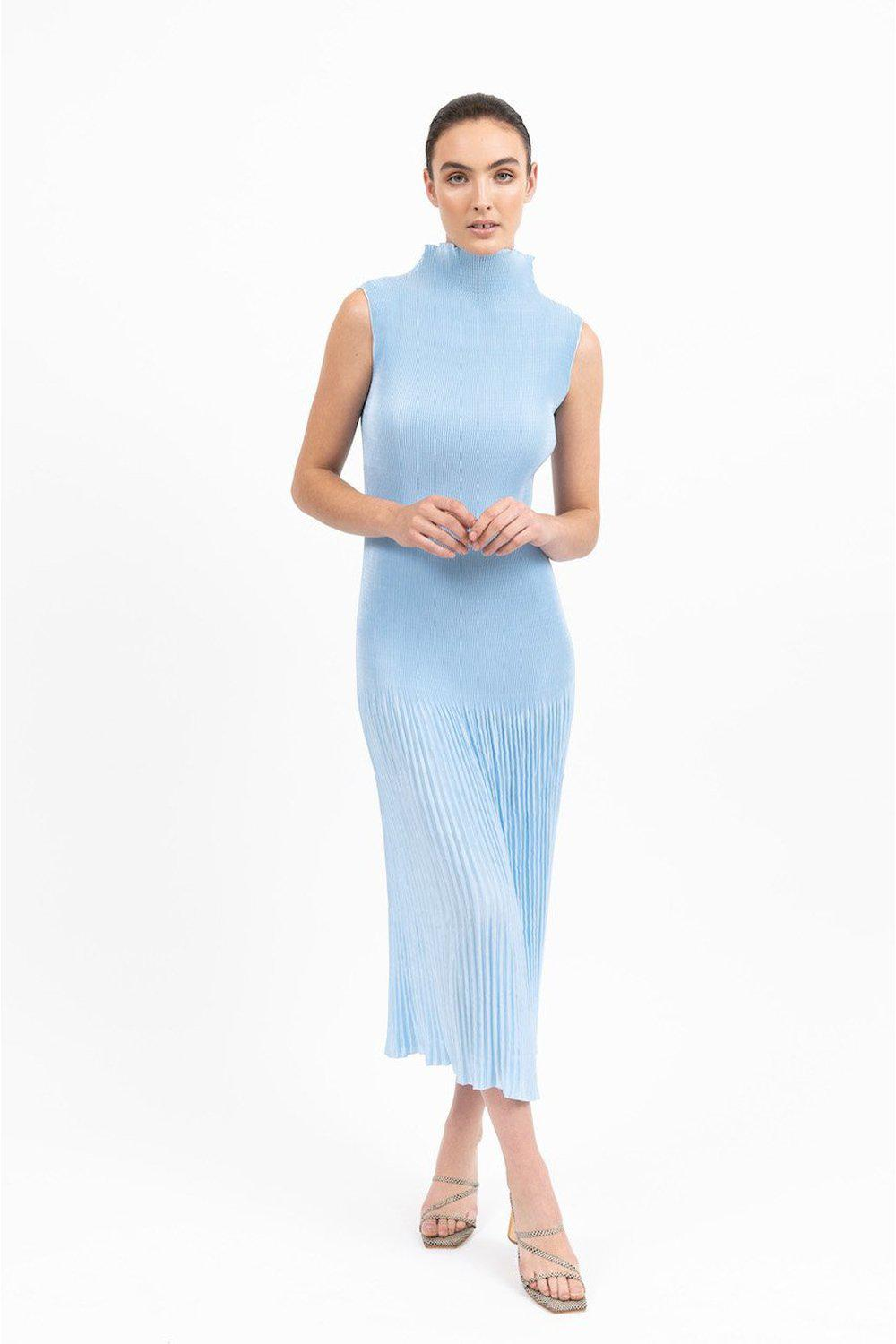 Soirèe Pleat Gown / Ice Blue | L'idèe | Mad About The Boy
