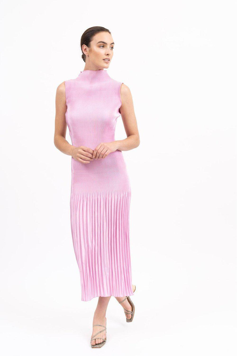 Soirèe Pleat Gown / Pink | L'idèe | Mad About The Boy