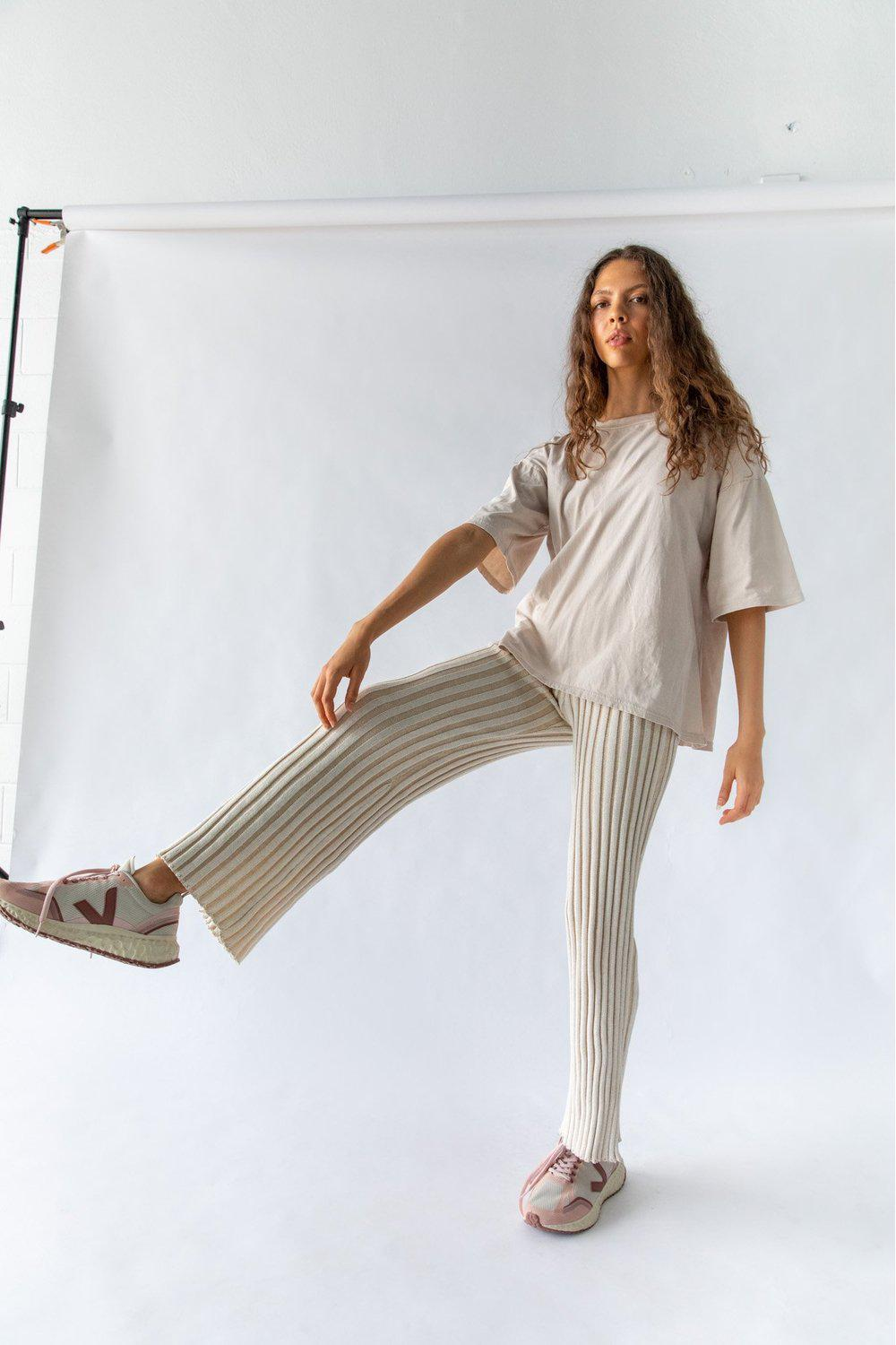 Yen Knit Pant / Off White | Nice Martin | Mad About The Boy