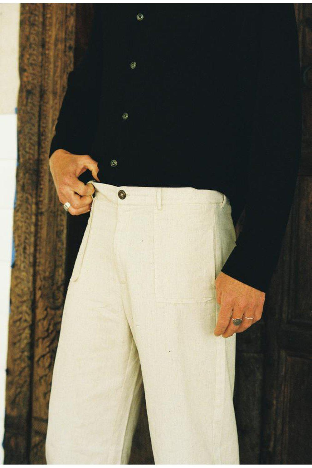 The Calvin Cropped Pant / Natural | Rode To No Wear | Mad About The Boy