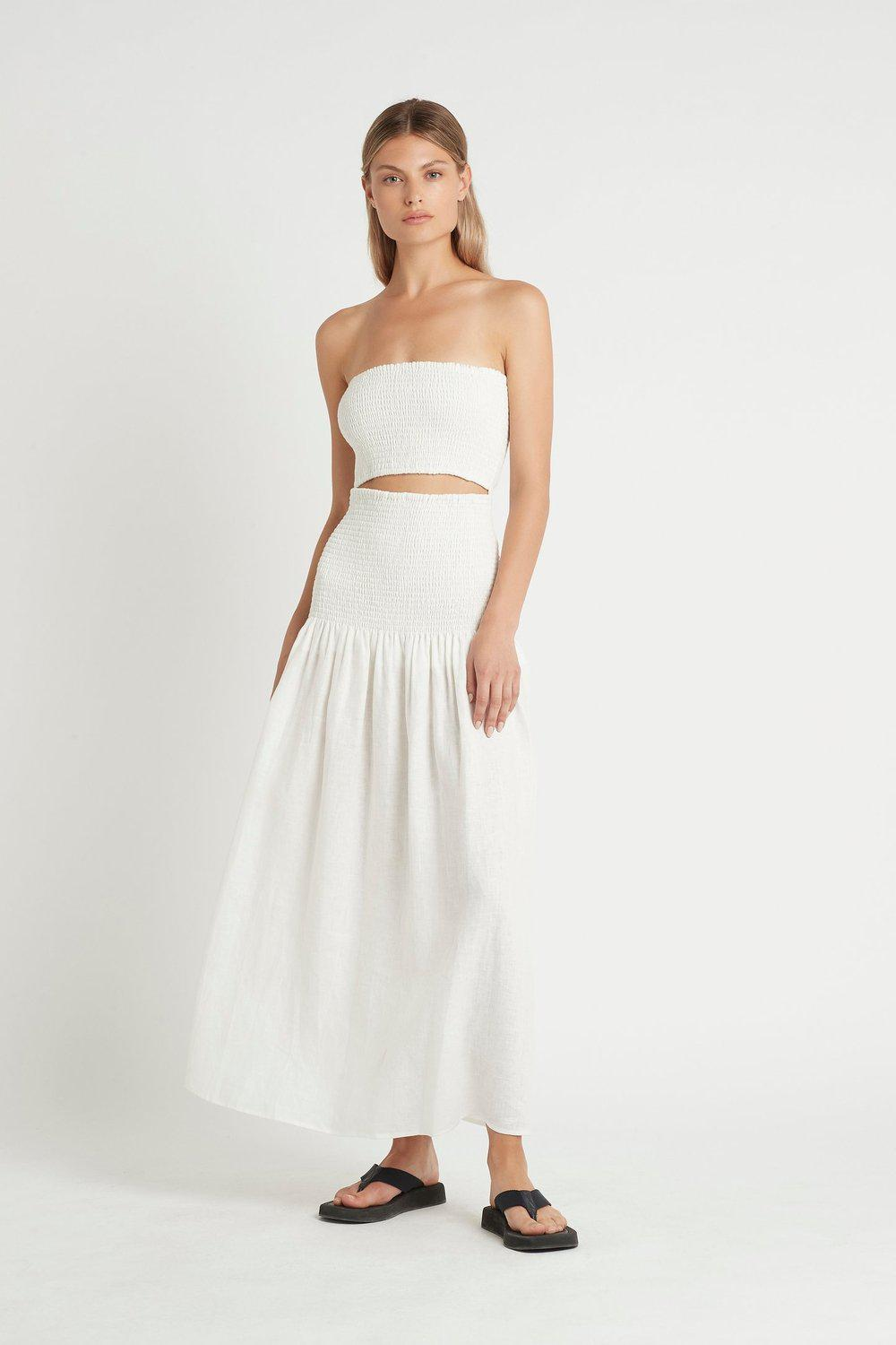 Madelyn Strapless Dress / Ivory | SIR | Mad About The Boy