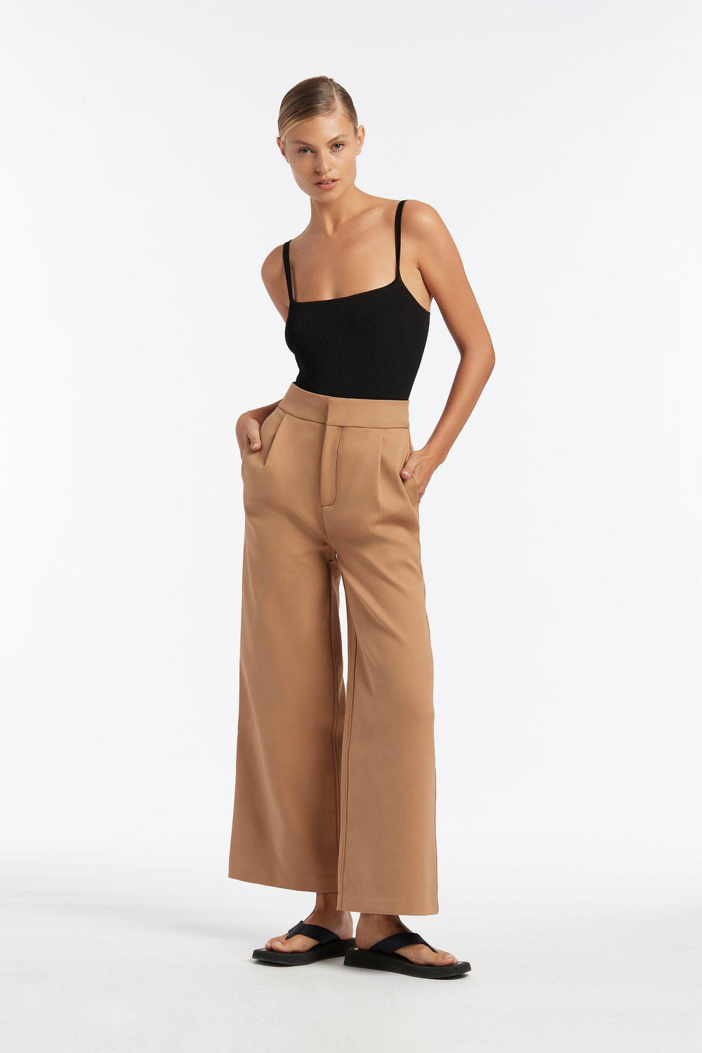 ANDRE WIDE LEG PANT / CAMEL | SIR | Mad About The Boy