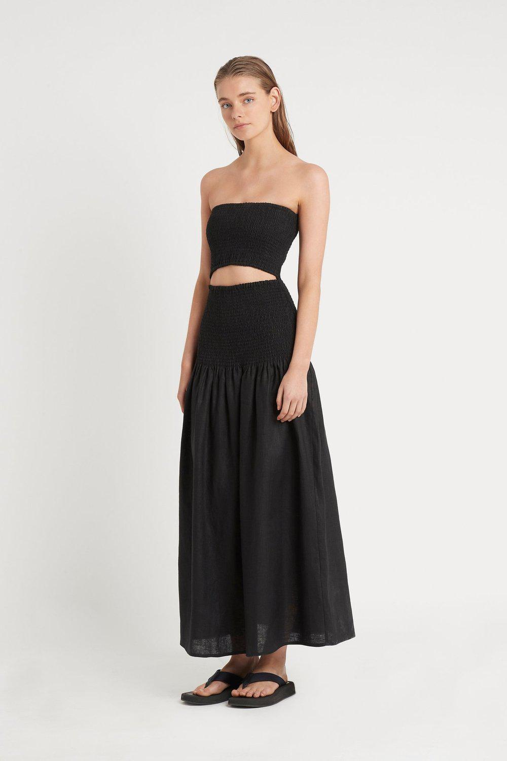 Madelyn Strapless Dress / Black | SIR | Mad About The Boy