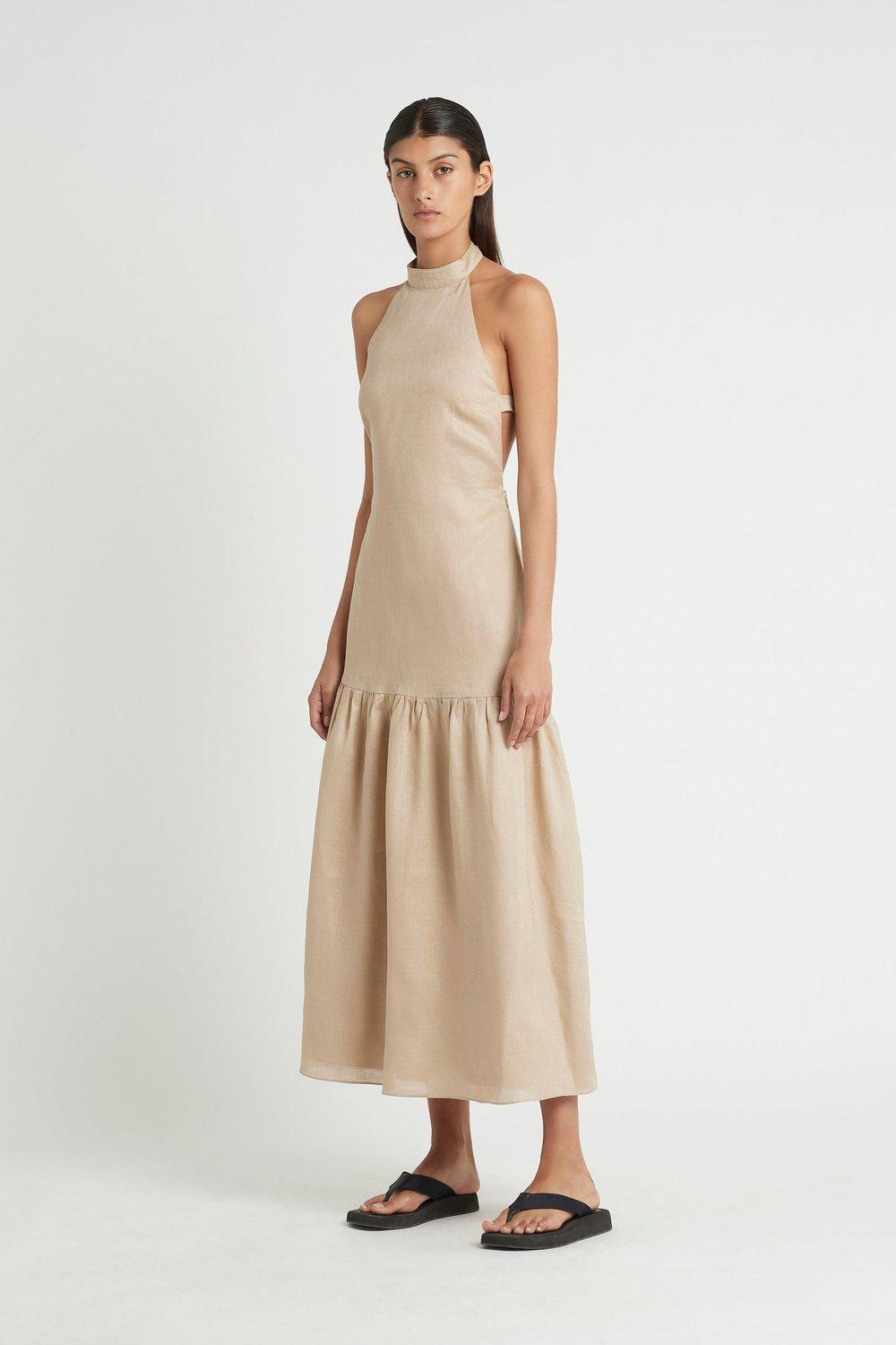 Blanche Halter Dress / Bone | SIR | Mad About The Boy