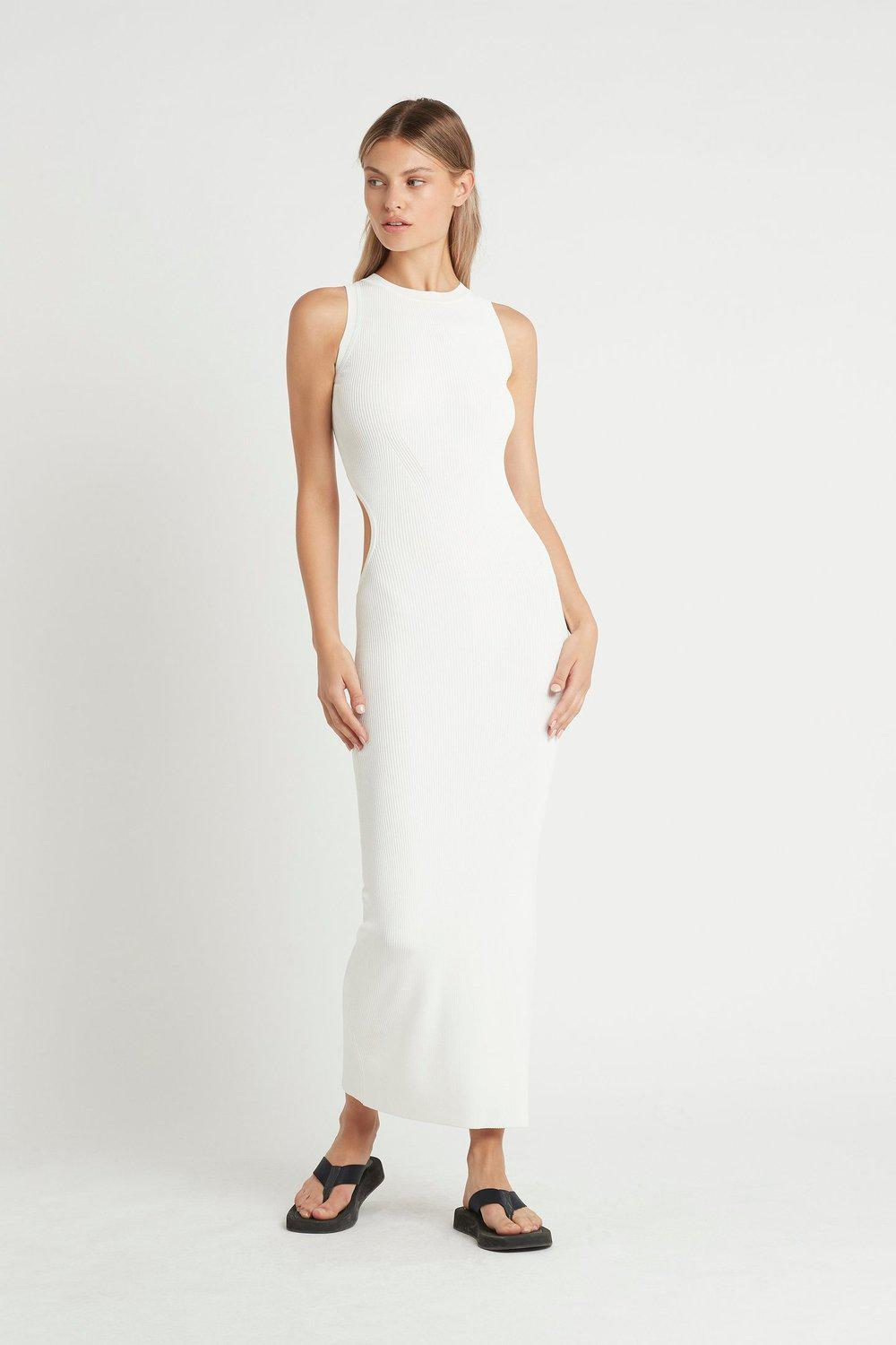 Celle Cut Out Dress / Ivory | SIR | Mad About The Boy