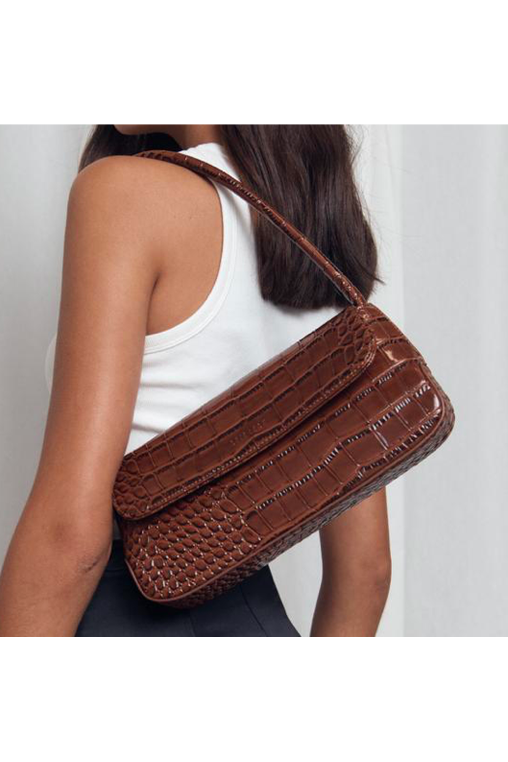 The Camille Bag / Chocolate Matte Croc | Brie Leon | Mad About The Boy