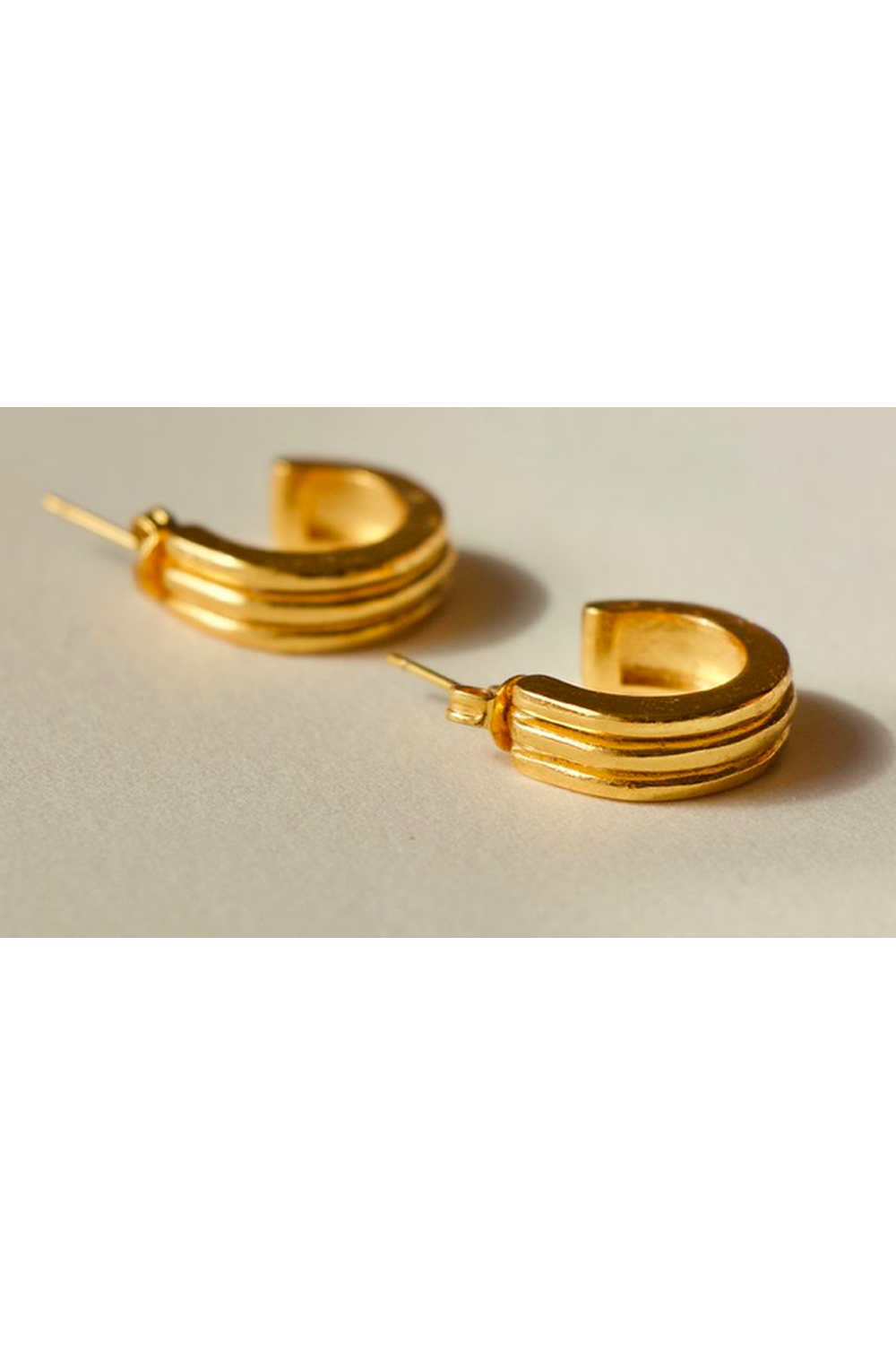 Large Ranura Earrings / Gold | Brie Leon | Mad About The Boy