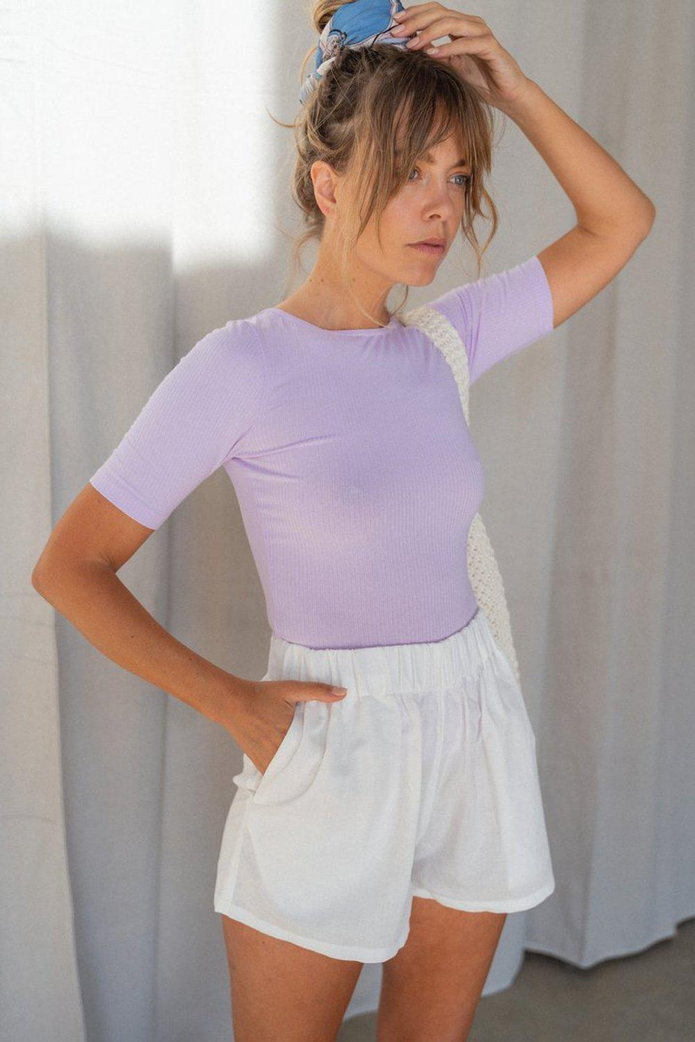 Tailored Tee / Lilac | Summi Summi | Mad About The Boy