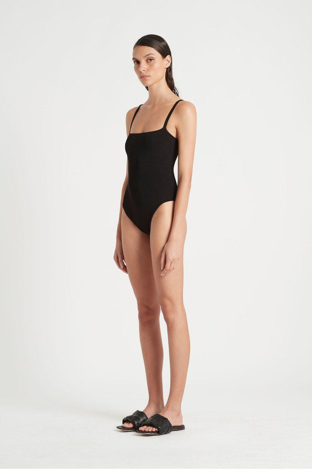 Agnes Ribbed Bodysuit / Black | SIR | Mad About The Boy