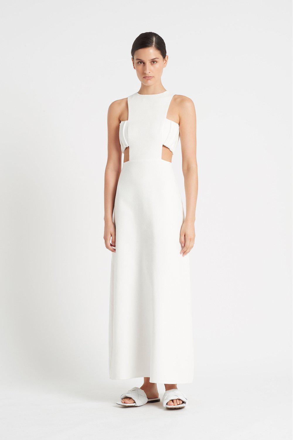 Yves Cut Out Gown / White | SIR | Mad About The Boy