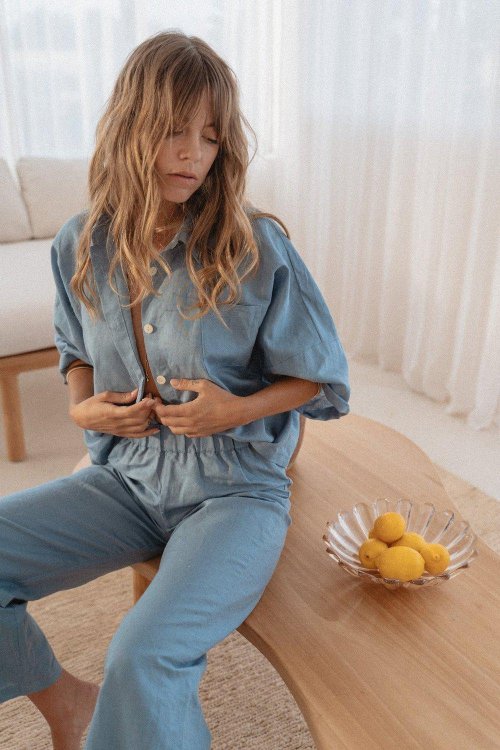 Linen Button Up / Ocean | Summi Summi | Mad About The Boy