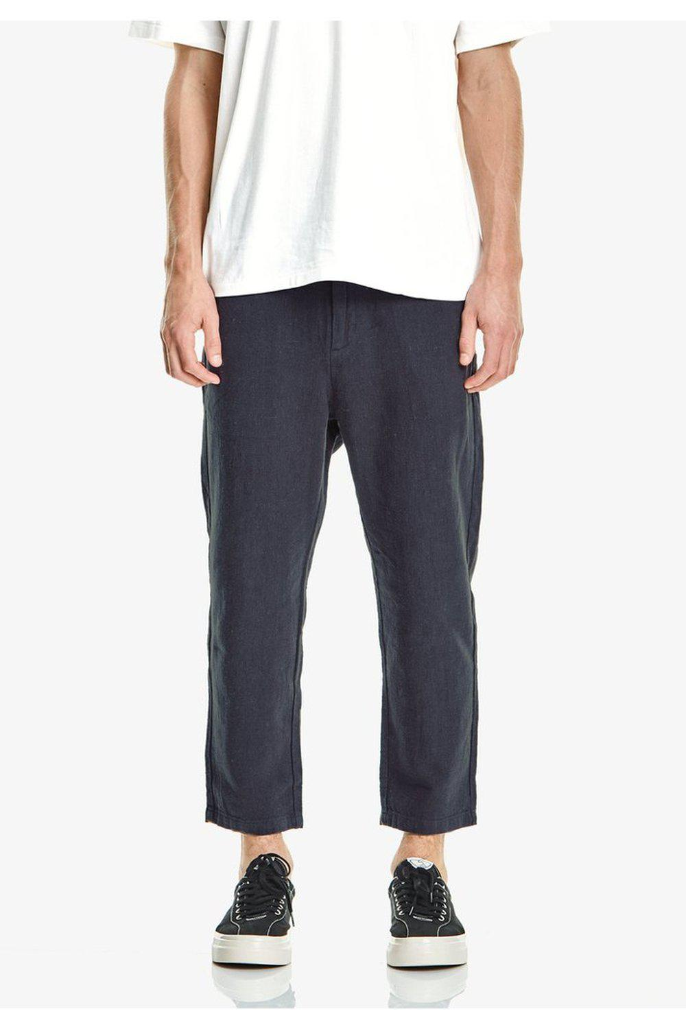 Mens Crop Linen/Cotton Pant, Navy | COMMONERS | Mad About The Boy