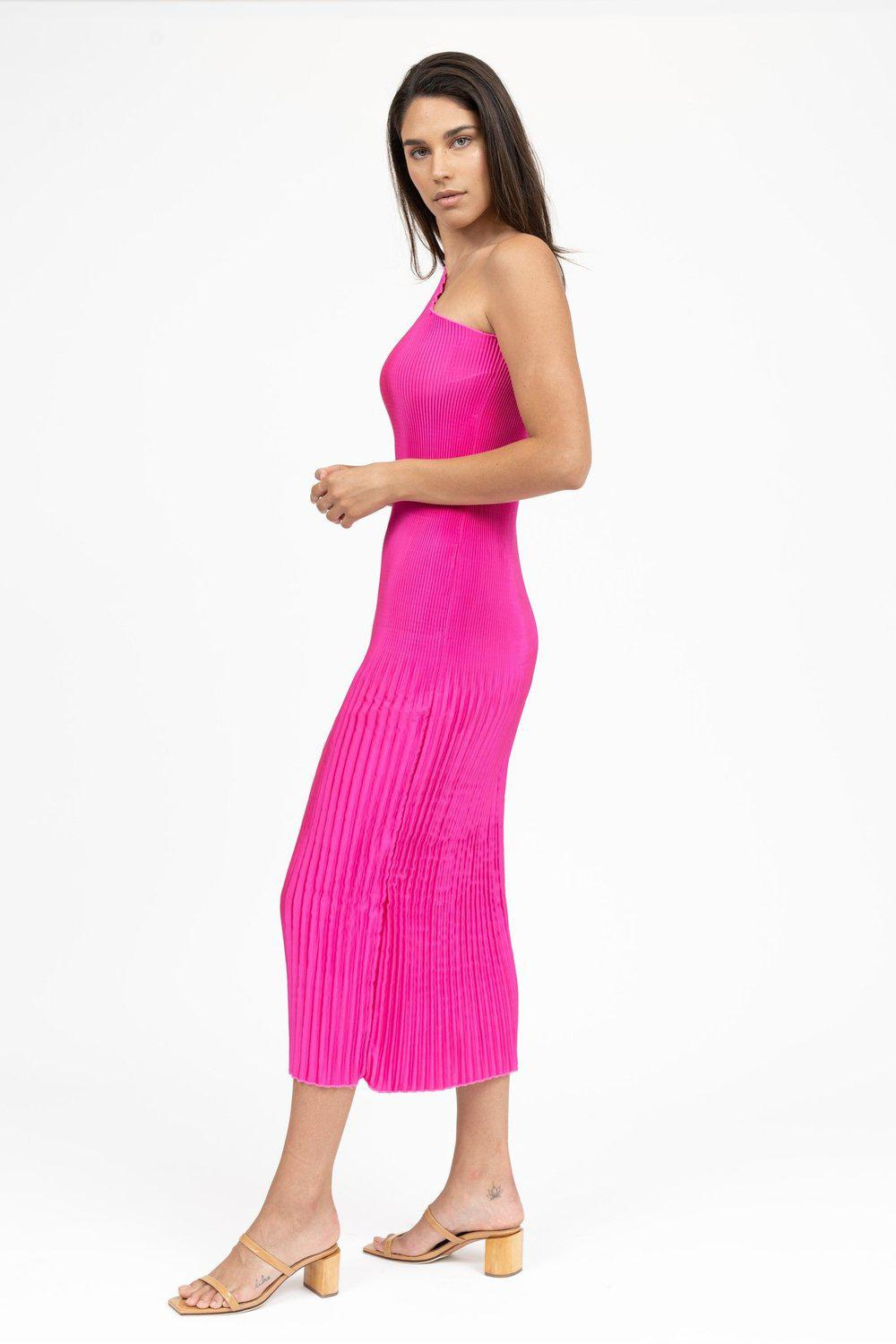 Soirèe One Shoulder Gown / Fuchsia | L'idèe | Mad About The Boy