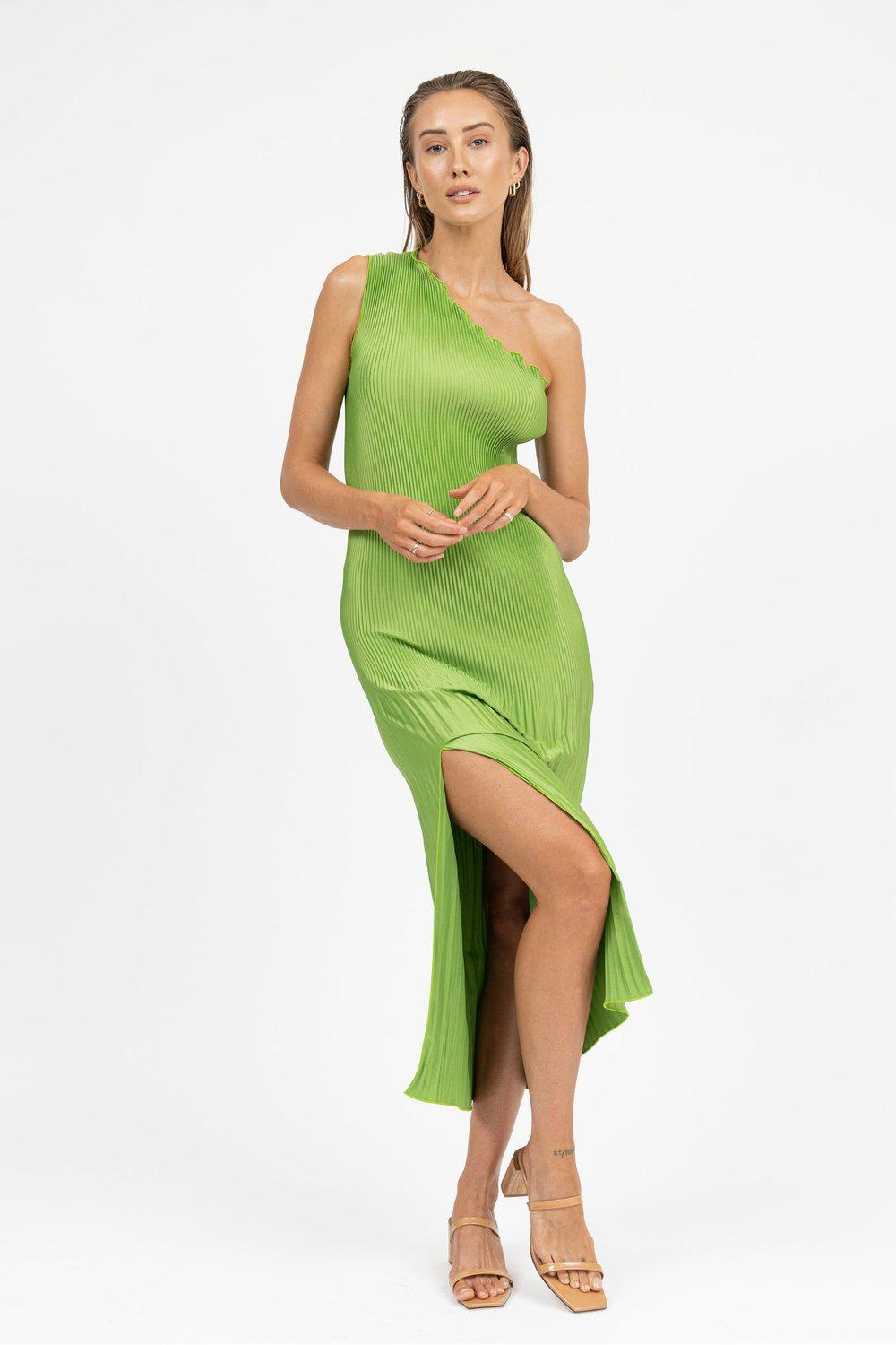 Soirèe One Shoulder Gown / Green | L'idèe | Mad About The Boy