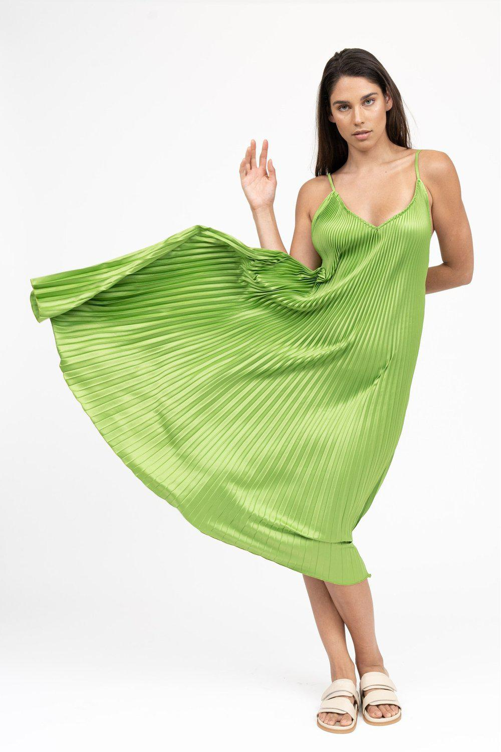 Bisous Strappy Gown / Green | L'idèe | Mad About The Boy