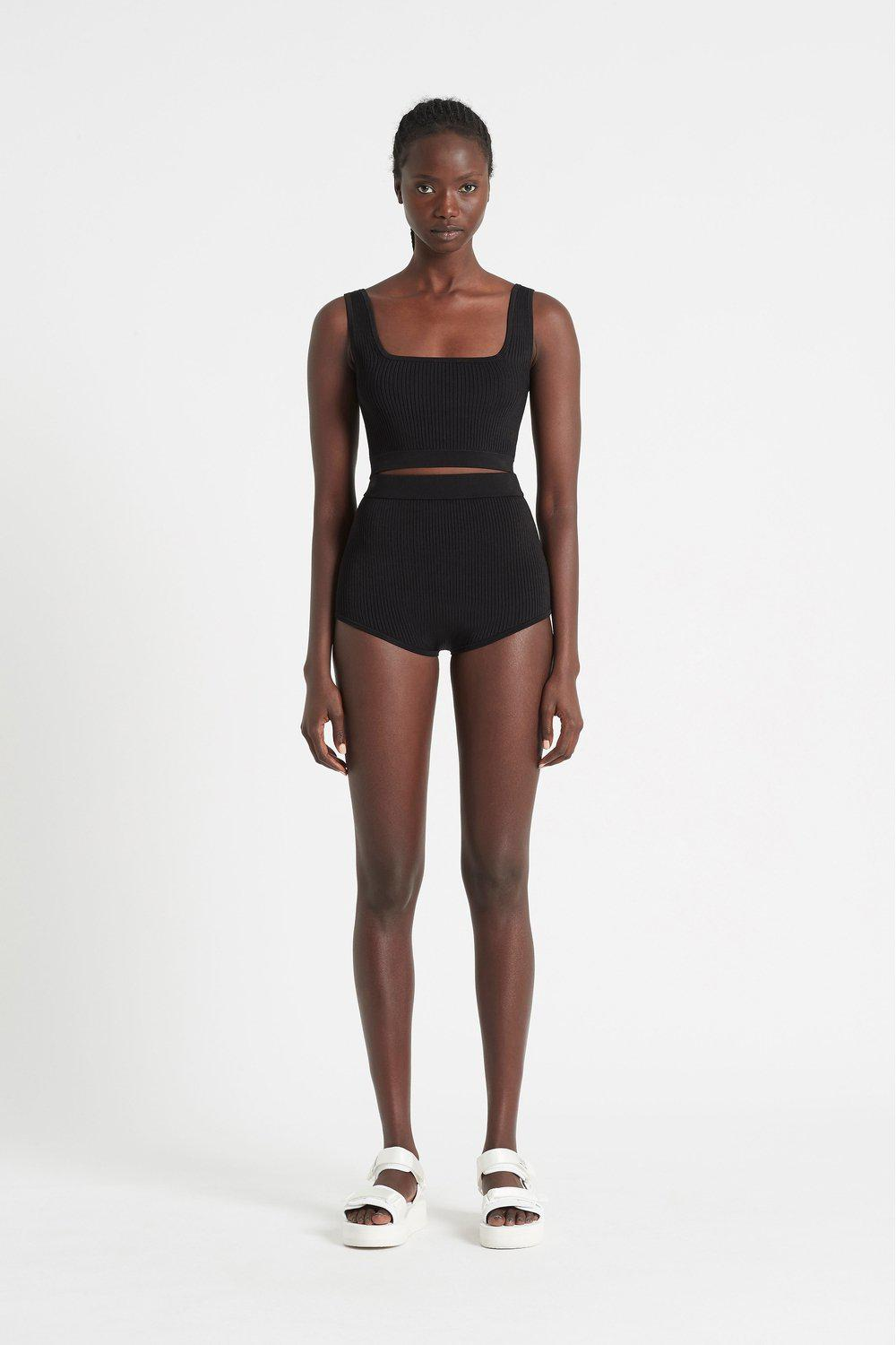 Agnes Ribbed Crop / Black | SIR | Mad About The Boy