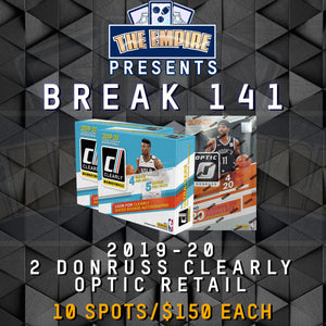 TEAM BREAK #141; 2 DONRUSS CLEARLY, 1 OPTIC RETAIL