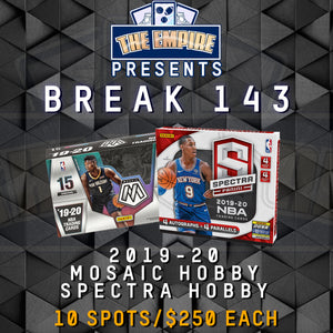TEAM BREAK #143; 1 MOSAIC HOBBY, 1 SPECTRA HOBBY