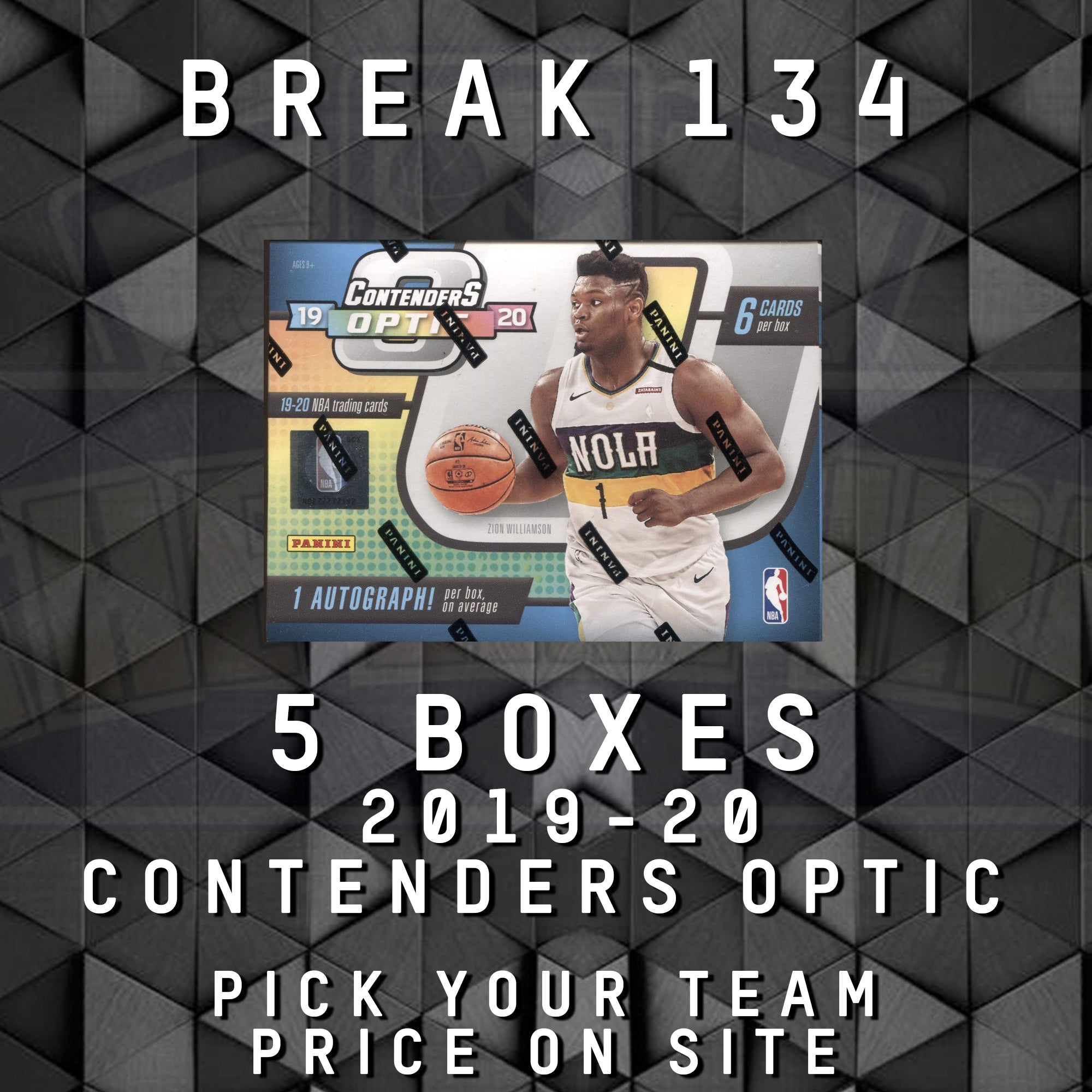 TEAM BREAK #134; 5 CONTENDERS OPTIC HOBBY BOXES