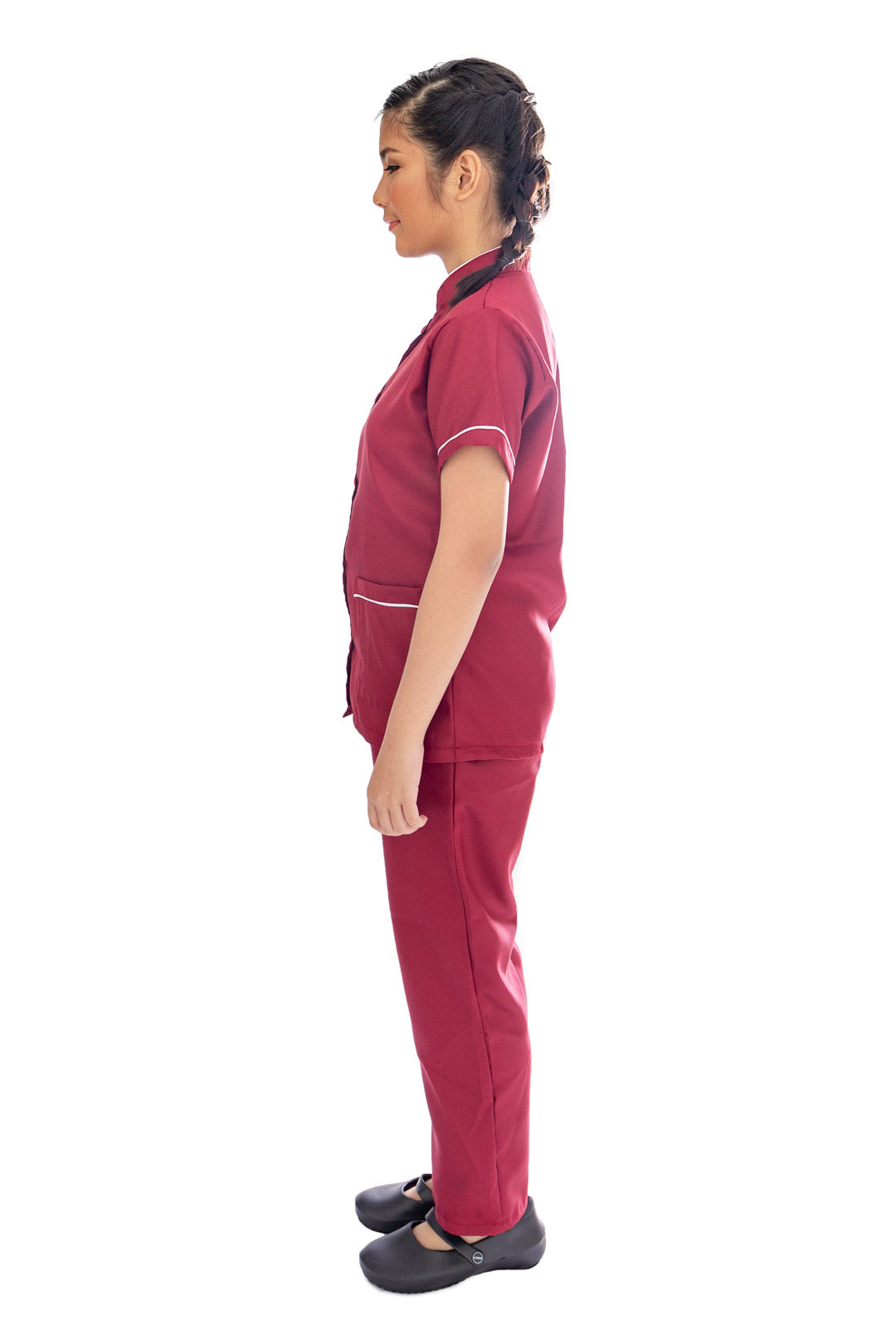 Our Soft Annie Suit in Maroon/Cream