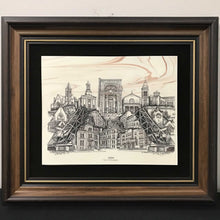 Load image into Gallery viewer, Joliet - City of Champions Framed Engraving (13.25x15.25)