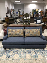 Load image into Gallery viewer, Blue Sofa w/ Pillows (34.5x80x40)