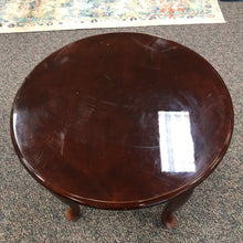 Load image into Gallery viewer, Mahogany Round End Table (21x24x24)