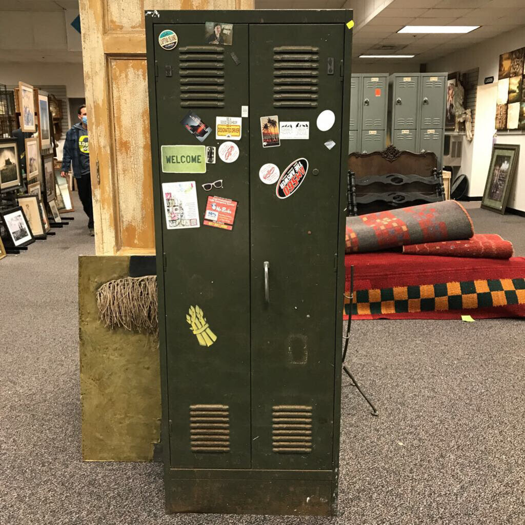 Green Metal Storage Cabinet (66x24x12)