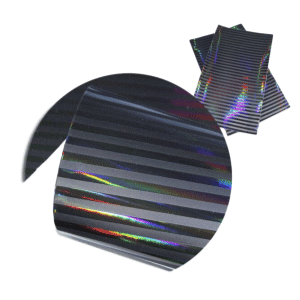 Black Holographic Faux Leather Sheets