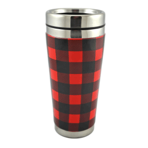 Coffee Glass Lumber Jack Ceramic 475ml Tumbler