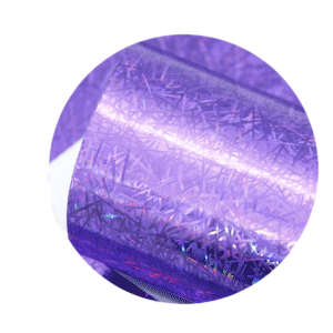 Dark Purple Holographic Sparkle Printed Faux Leather Sheets sold by RQC Supply Canada