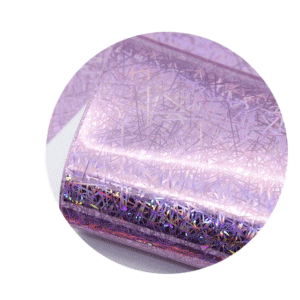 Light Purple Holographic Sparkle Printed Faux Leather Sheets sold by RQC Supply Canada