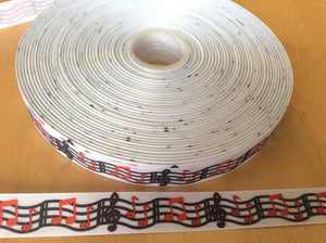 Music Grosgrain Ribbon 7/8""