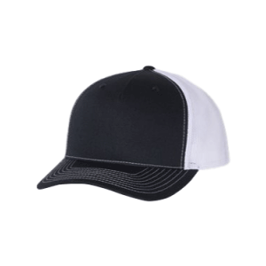 Navy and White 5 Panel Richardson Trucker Hat sold by RQC Supply Canada