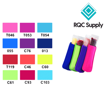 Freezie Holders see the colour selection available to buy online at RQC Supply Canada