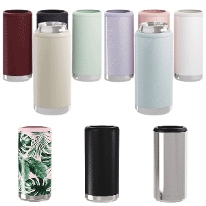 Stainless Steel Skinny Can Coolers Maars  - Save a Cup
