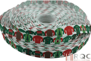 "Ugly Christmas Sweater Grosgrain Ribbon 5/8"" Christmas Ribbons"
