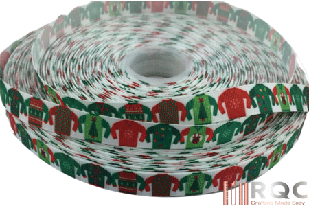 Ugly Christmas Sweater Grosgrain Ribbon 5/8