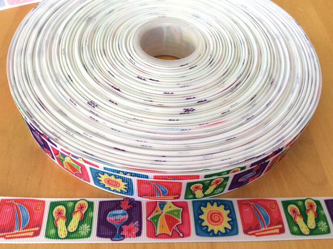 Summertime Grosgrain Ribbon 7/8