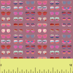 Pink-Sunglasses-Pattern-Fashion-HTV-Adhesive-Sold-By-RQC-Supply