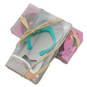 Flip Flop Beer Bottle Opener,  Beach Nautical Themed Wedding Party Favour