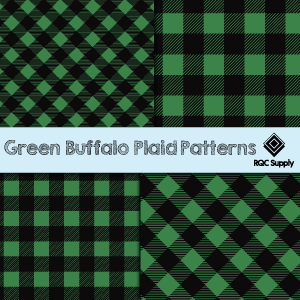 "12""  Green Buffalo Plaid Pattern Vinyl"