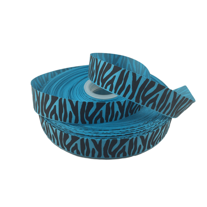 Blue Zebra Grosgrain Ribbon 7/8
