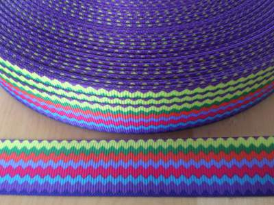 Horizontal Rainbow Chevron Grosgrain Ribbon 7/8