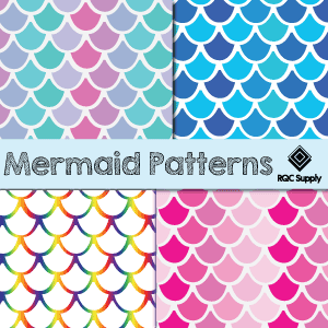 "12"" Mermaid Pattern Vinyl"