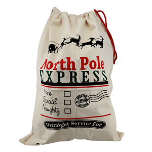 Santa Sack - North Pole Express; Nice, Special, Naughty
