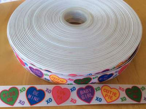 "Sweat Hearts Grosgrain Ribbon 1"", Valentines Day Candies, Valentines Day Ribbons, Treat Ribbons"