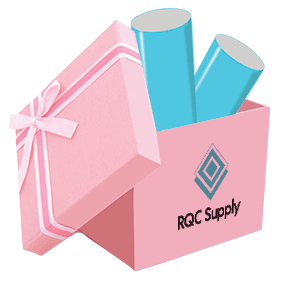 HTV and Adhesive Scrap Box Sold By RQC Supply Canada Pink
